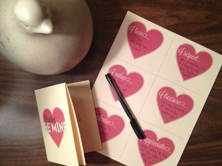 Valentine printable 2013