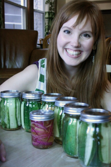 Homemade pickles with Alli