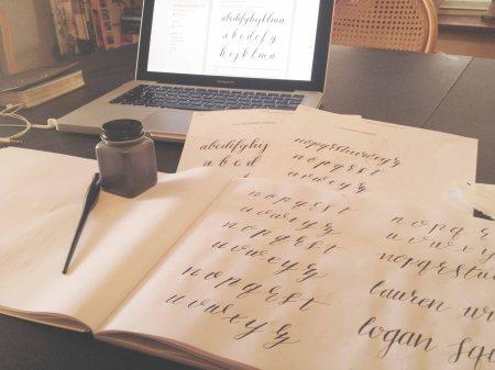 Modern calligraphy practice | handmaden.com